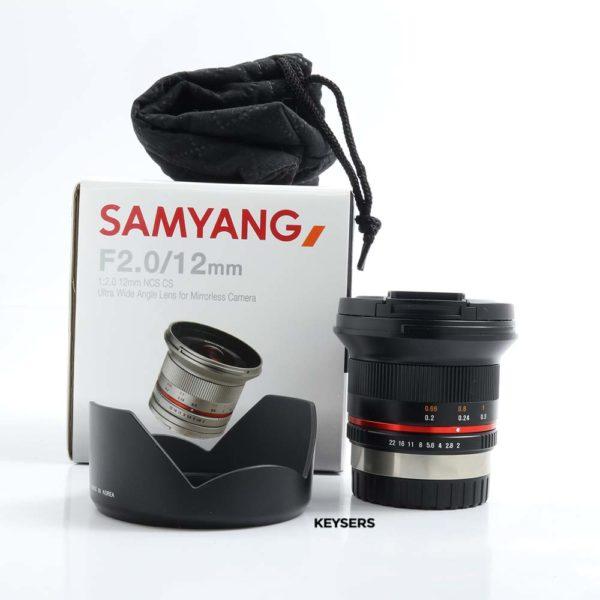 Samyang 12mm f2 (Fujifilm mount)