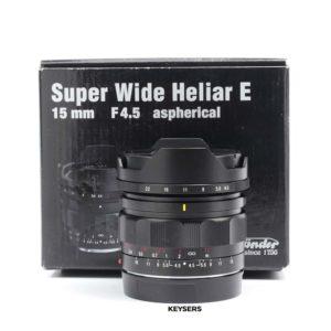 Voigtlander Super Wide Heliar E 15mm f4.5 aspherical Lens (Sony Mount)