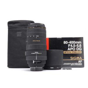 Sigma 80-400mm f4.5-5.6 APO DG Lens (Nikon Mount)