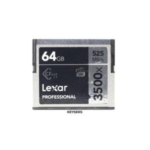 64GB Lexar Professional 3500x CFast 2.0 Memory Card (525mb-s)