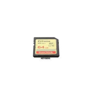 SanDisk Extreme 64BG SD Memory Card (45mb-s)